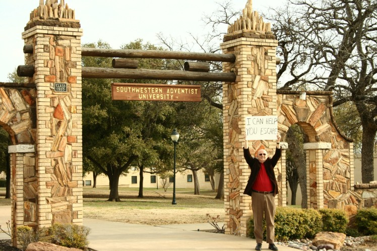 I'm standing beside the Mizpah Gate on the campus of Southwestern Adventist University. Both are, believe it or not, older than I am.