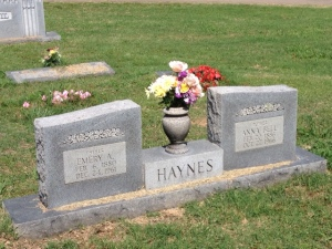 My grandparents' tombstones in Heavener, Oklahoma.